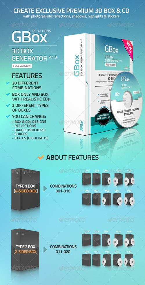 GraphicRiver 3D Box Generator - GBox v1.3