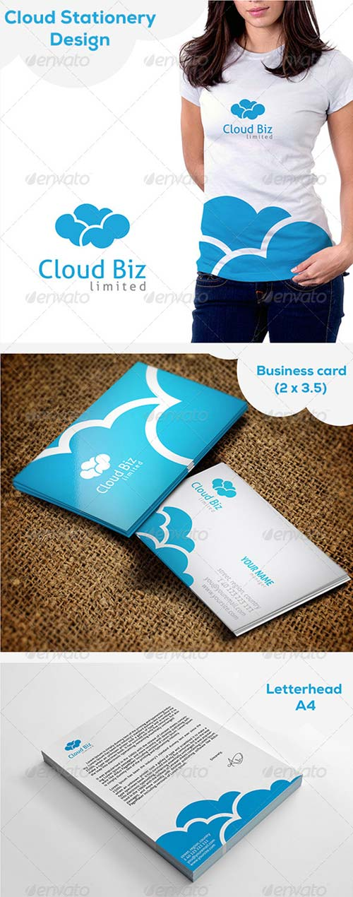 GraphicRiver Cloud Stationery