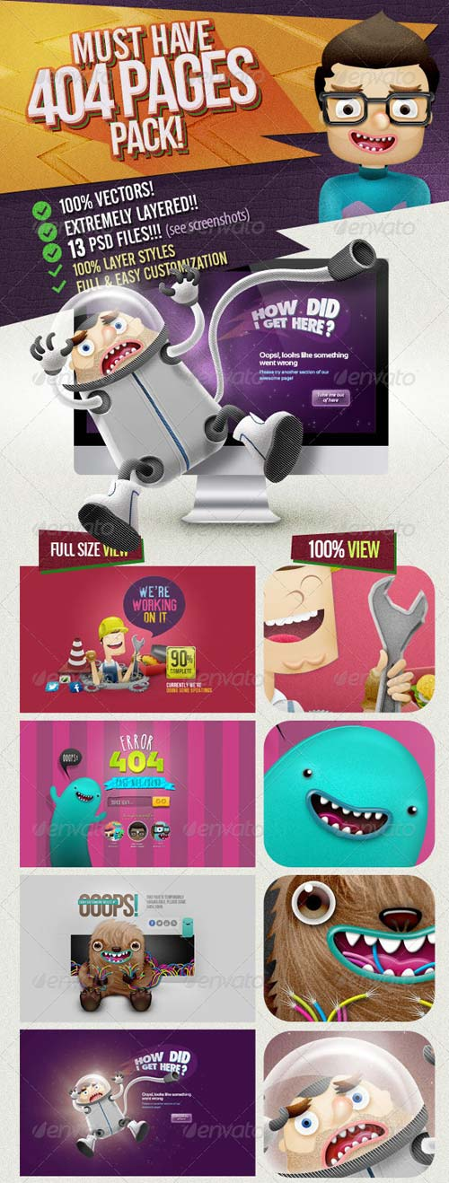 GraphicRiver 404 Pages Pack