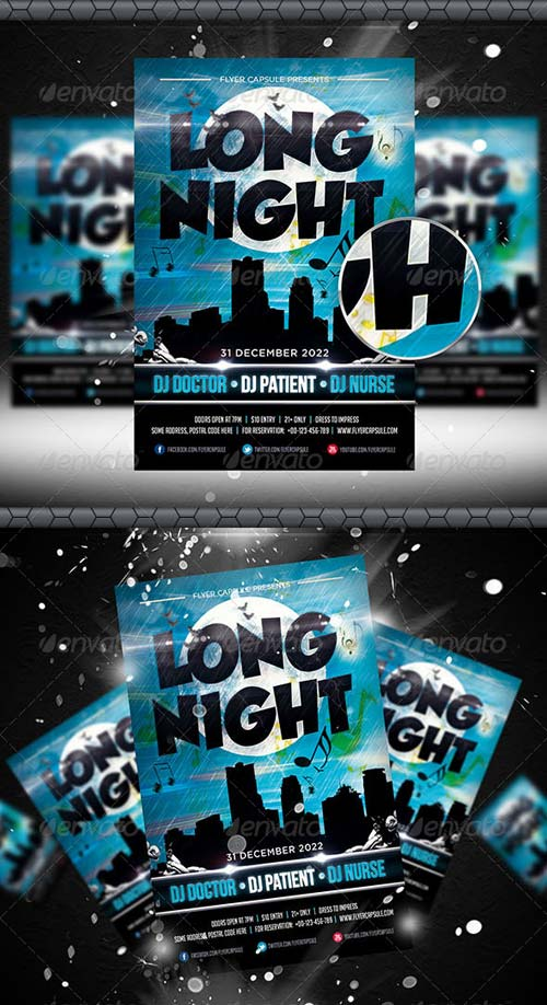 GraphicRiver Long Night Flyer Template