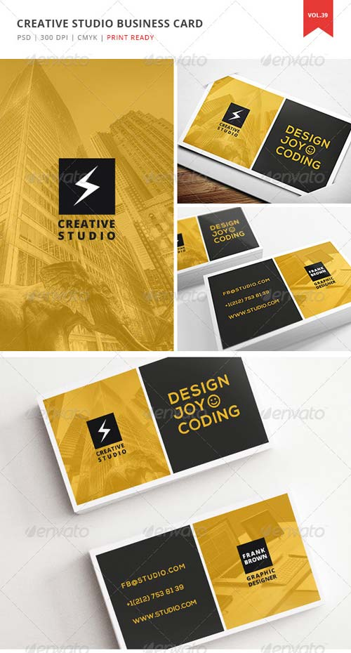 GraphicRiver Creative Studio Business Card - Vol. 39