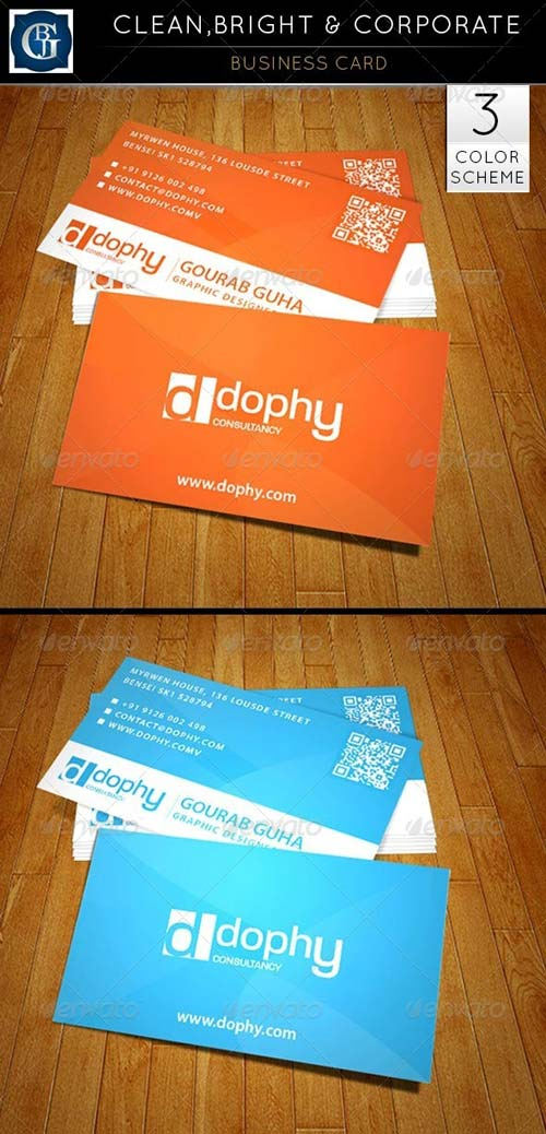 GraphicRiver Business Card - Clean, Bright & Corporate
