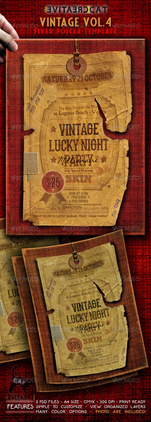 GraphicRiver Vintage Flyer/Poster Vol. 4