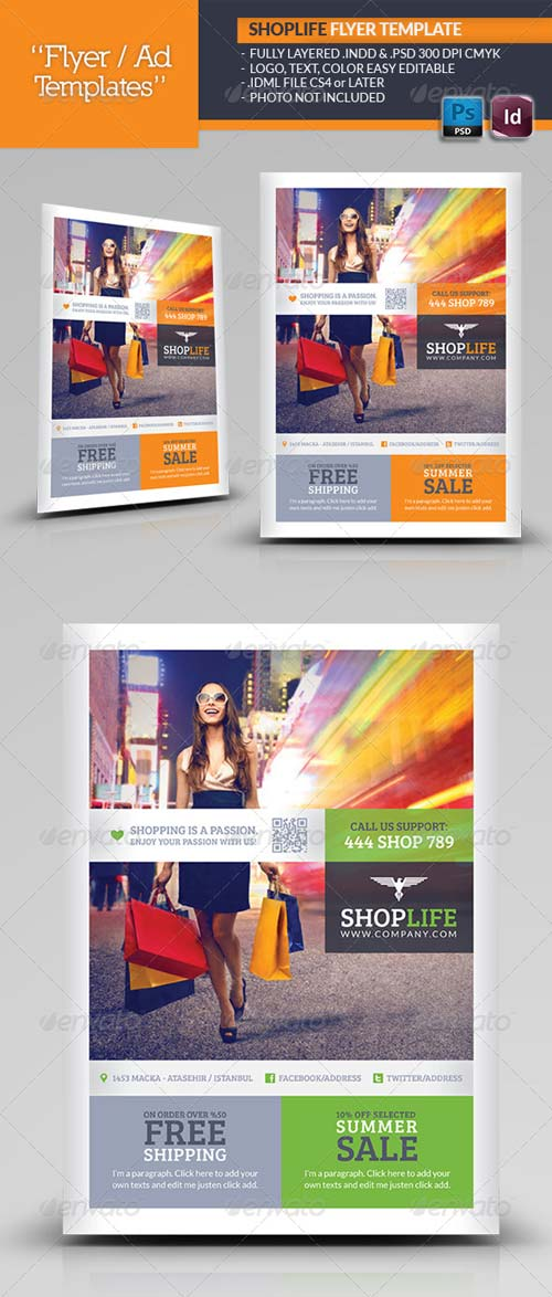 GraphicRiver Shop Life Flyer Template