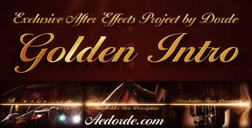 Golden Intro - After Effects Project (Videohive)