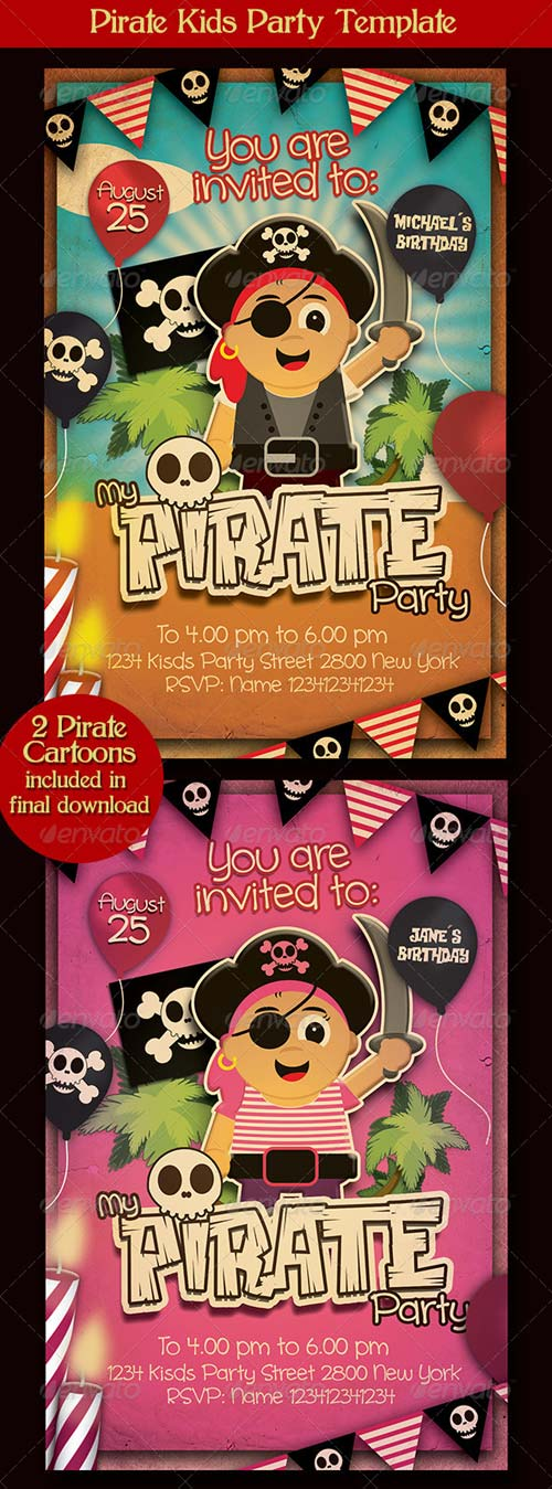 GraphicRiver Pirate Kids Party Flyer Template