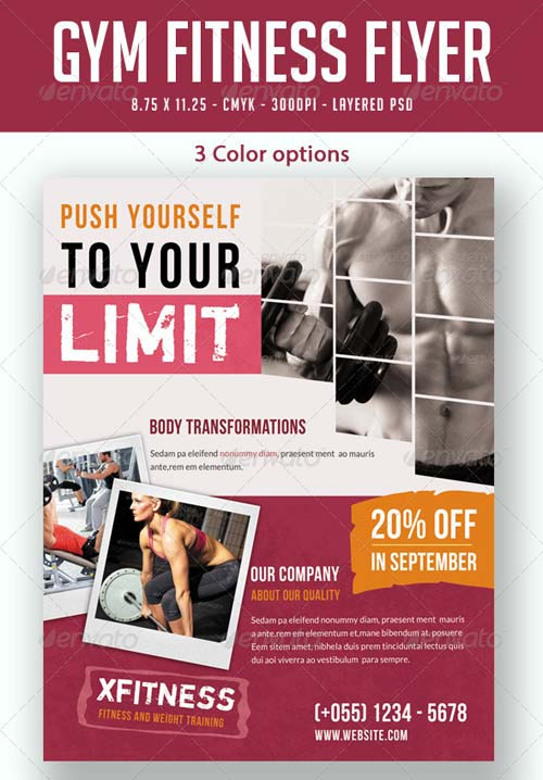 GraphicRiver Gym / Fitness Flyer Print Ad