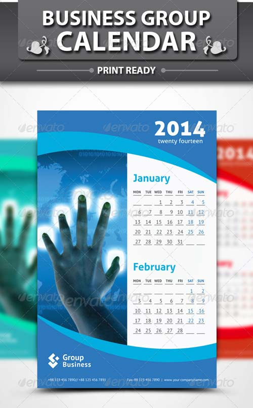 GraphicRiver Group Business Calendar