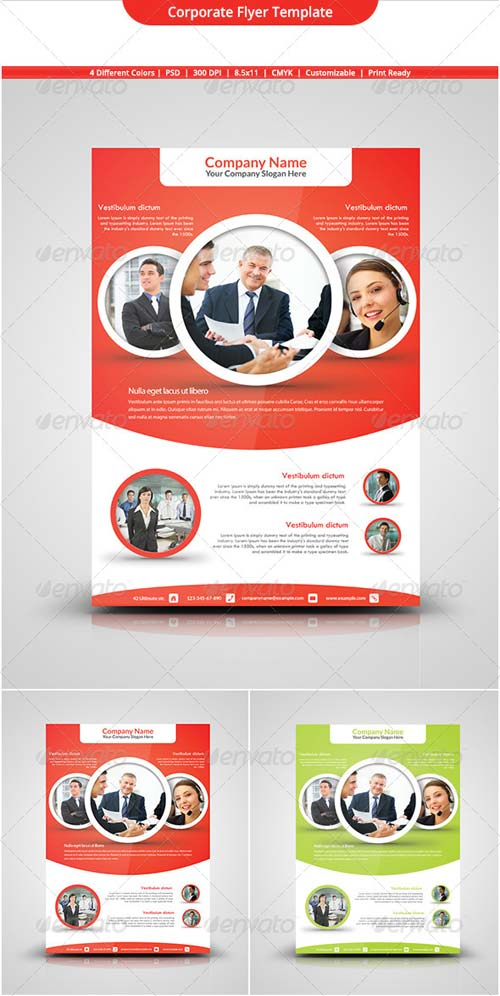 GraphicRiver Corporate Flyer Template 5342221