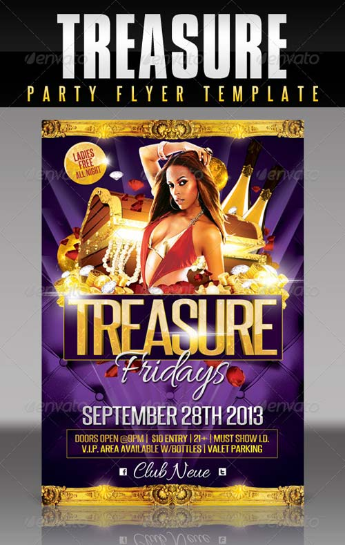 GraphicRiver Treasure Party Flyer Template