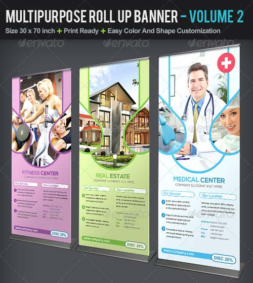 GraphicRiver Multipurpose Roll Up Banner | Volume 2
