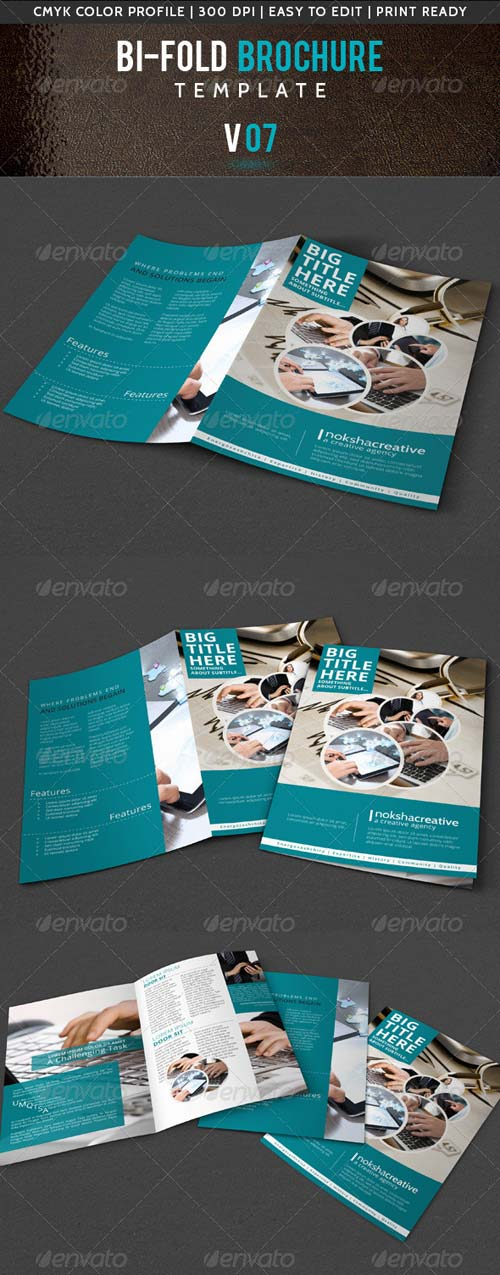 GraphicRiver Corporate Bi-Fold Brochure V-07