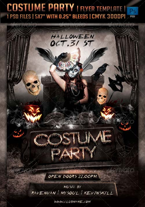 GraphicRiver Costume Party Flyer Template