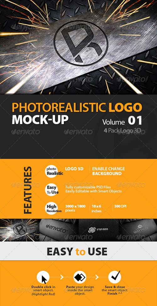 GraphicRiver Photorealistic Logo 3D Mock-up Vol 1_Richhunter
