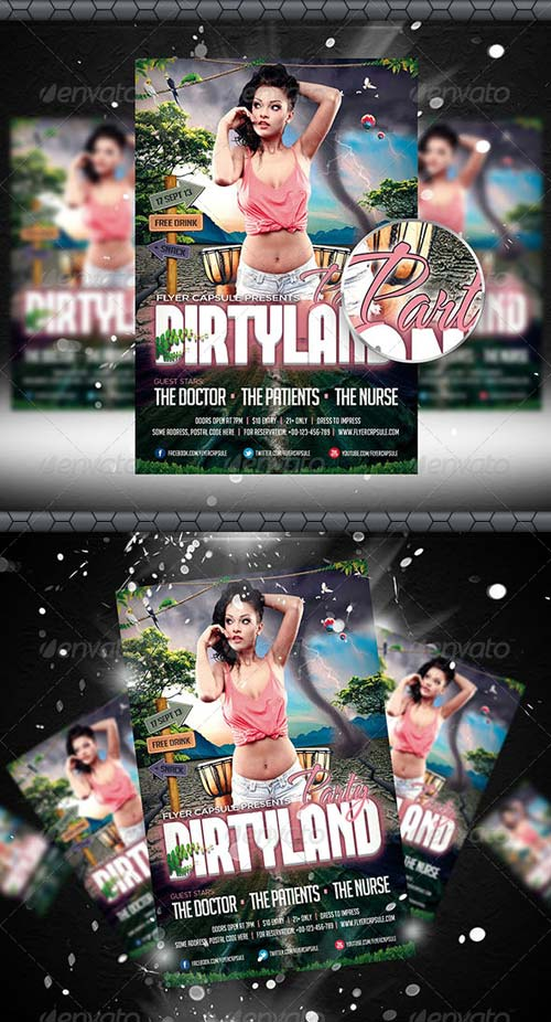 GraphicRiver Dirty Land Party Flyer Template