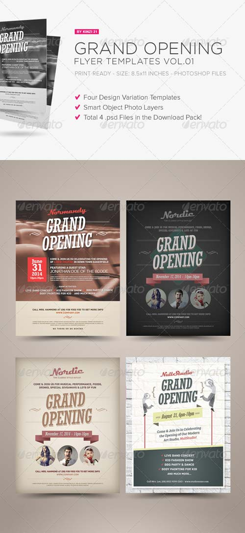 GraphicRiver Grand Opening Flyers Vol.01