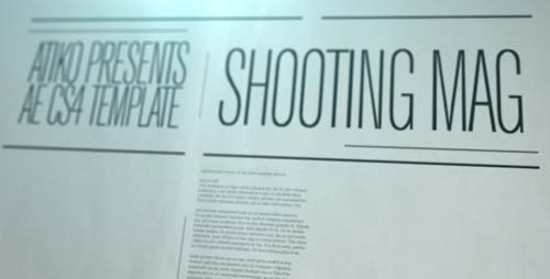 Shooting Mag - After Effects Project (Videohive)