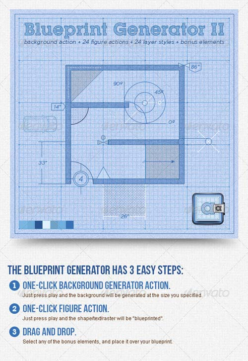 GraphicRiver Blueprint Generator II: Action + Layer Styles