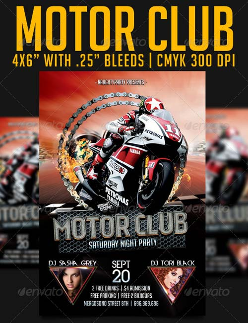 GraphicRiver Motor Club Party Flyer