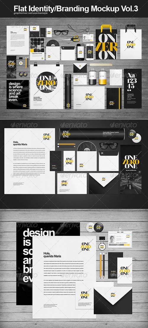 GraphicRiver Flat Identity and Branding Mock-up