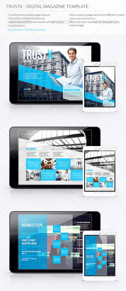 GraphicRiver Trustx - Digital Magazine Template