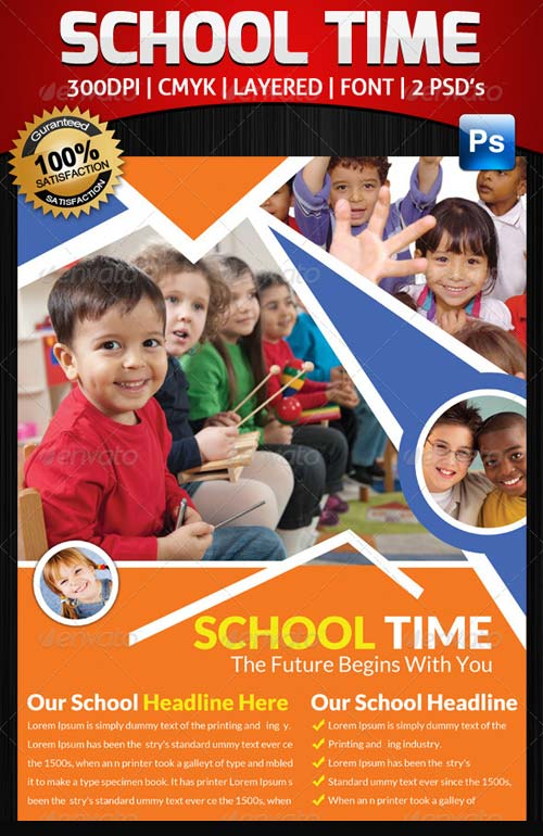 GraphicRiver School Time Flyer Template