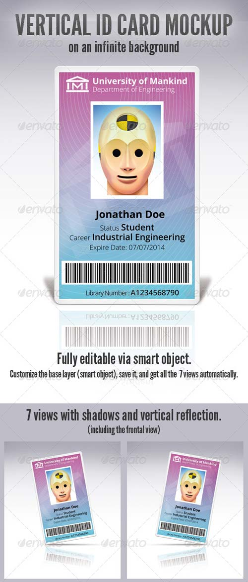 GraphicRiver Vertical Id Card