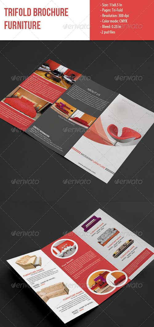 GraphicRiver Trifold Brochure for Furniture