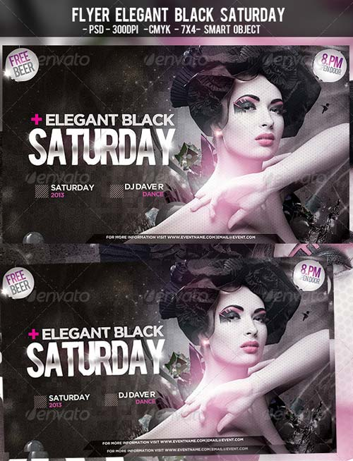 GraphicRiver Flyer Elegant Black Saturday