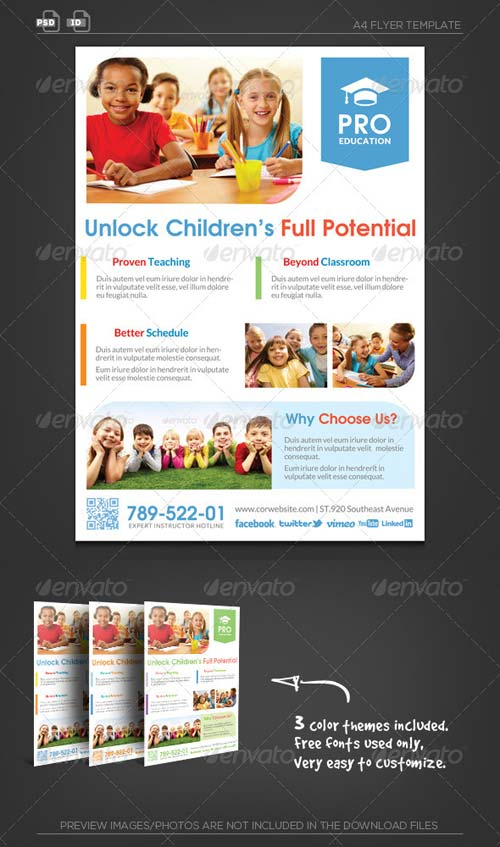 GraphicRiver Pro Education Flyer Template - Unlock Potential