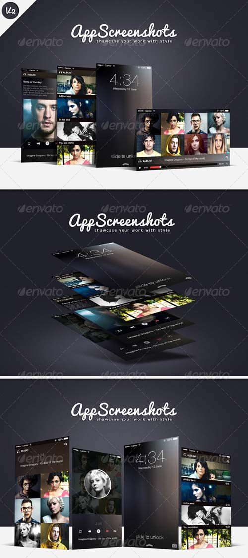 GraphicRiver App Screenshot Mockups V2
