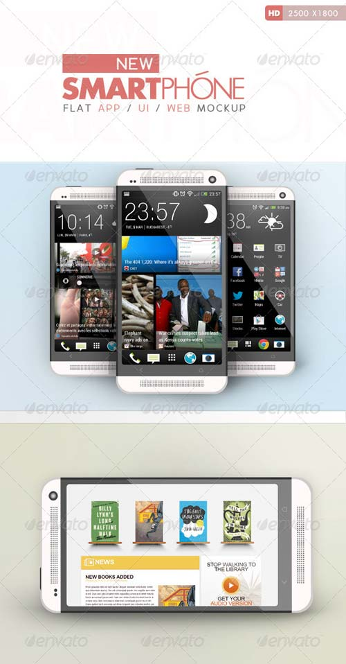 GraphicRiver Flat Phone Mock Up