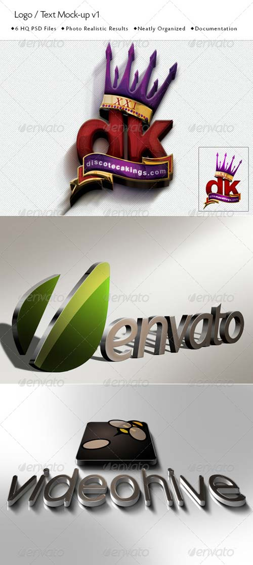 GraphicRiver Logo / Text Mock-Up