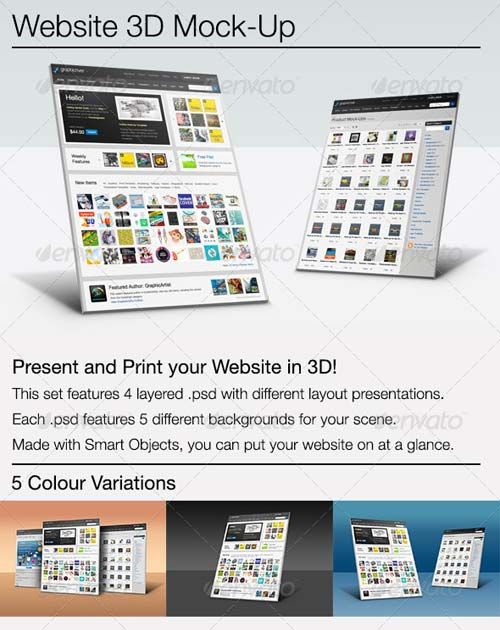 GraphicRiver 3D Website Showcase Mock-Up