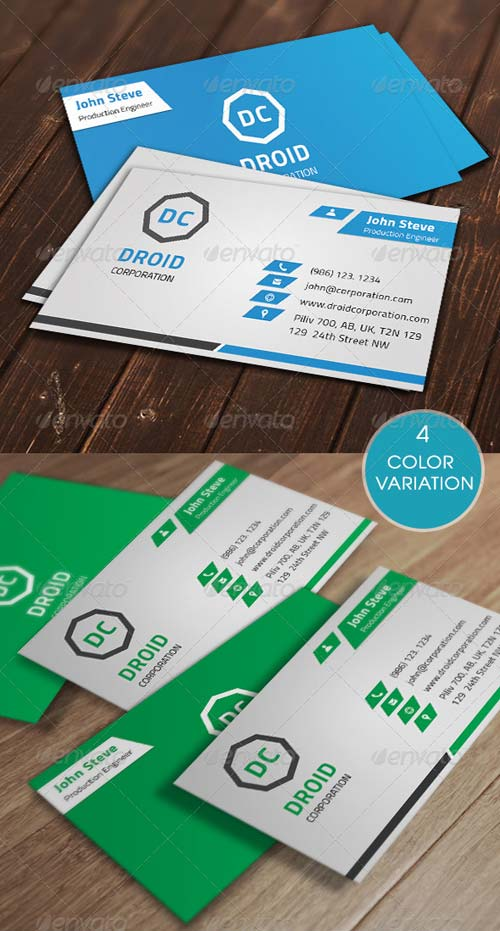 GraphicRiver Modern Corporate Business Card v7