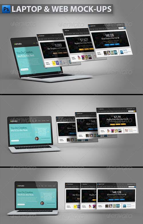GraphicRiver Laptop and Website Mock-ups