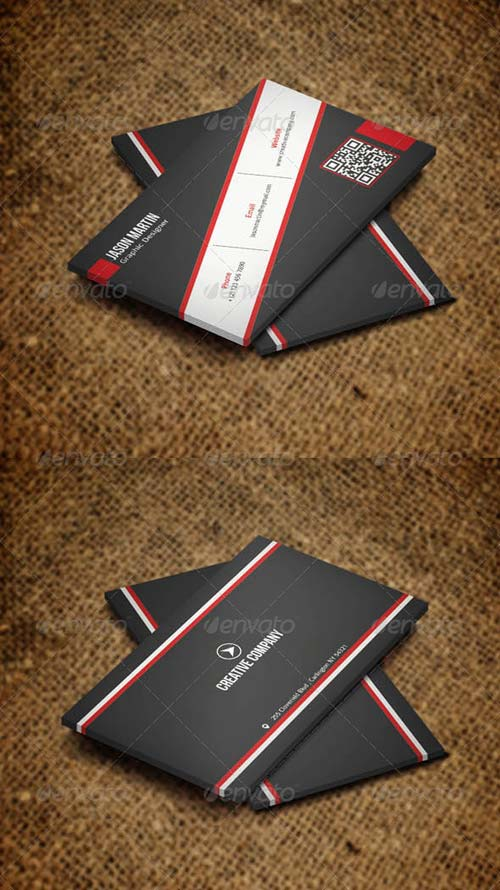 GraphicRiver Simple Metro Style Corporate Business Card v21