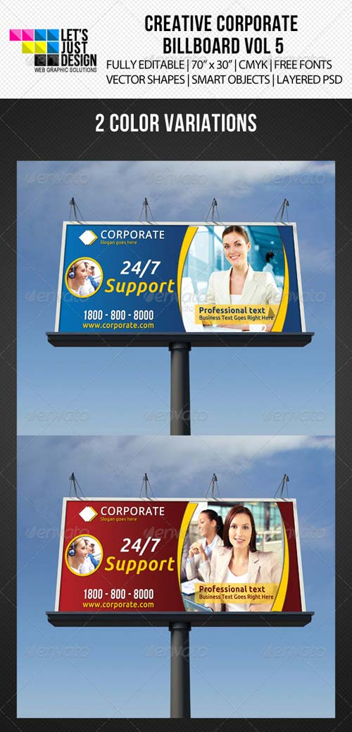GraphicRiver Corporate Billboard Banner Vol 5