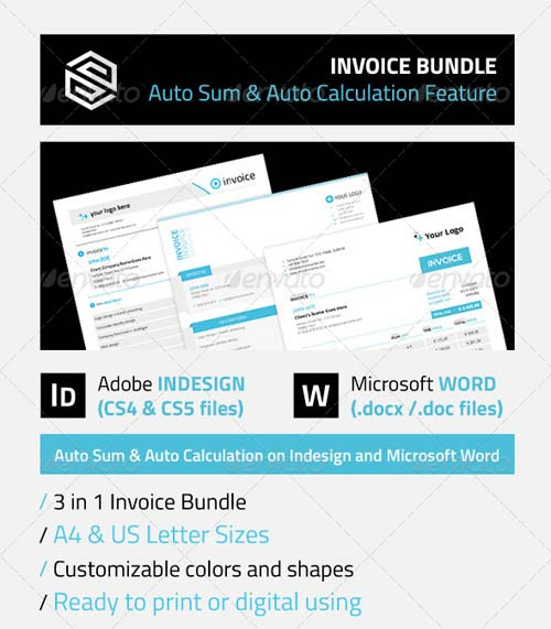 GraphicRiver Invoice Bundle