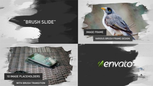 Brush Image/Video Slides - After Effects Project (Videohive)