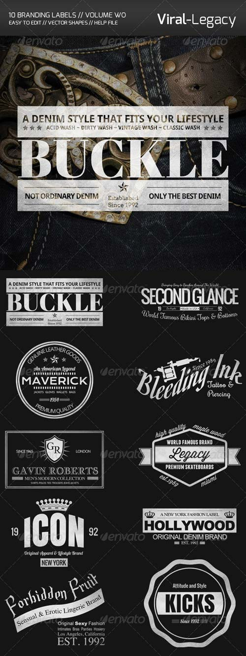 GraphicRiver 10 Branding Labels Volume Two