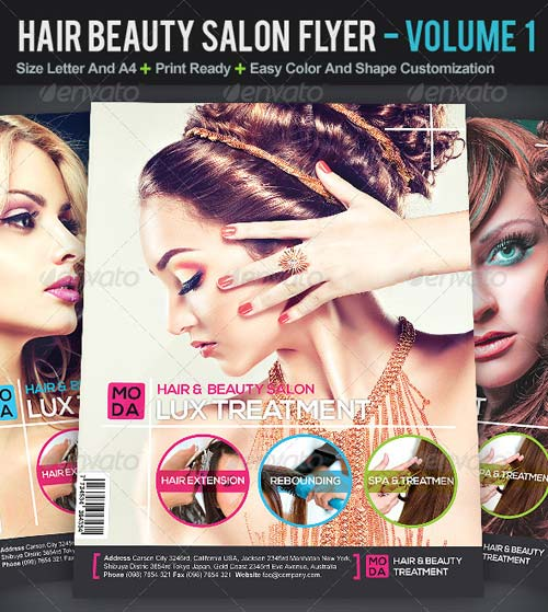 GraphicRiver Hair And Beauty Salon Flyer | Volume 1