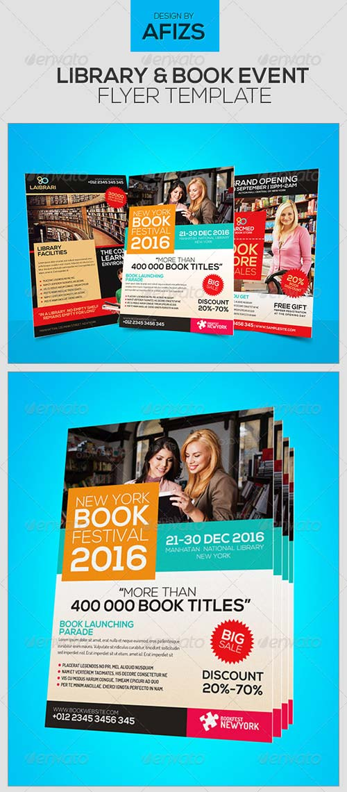 GraphicRiver Library & Book Event Flyer