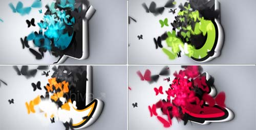 Butterflies Logo Reveal - After Effects Project (Videohive)