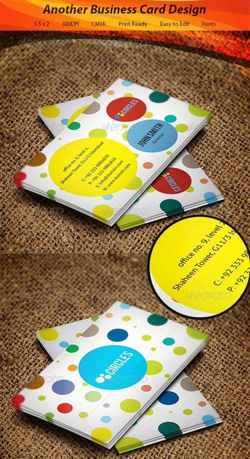 GraphicRiver Circles Business Card