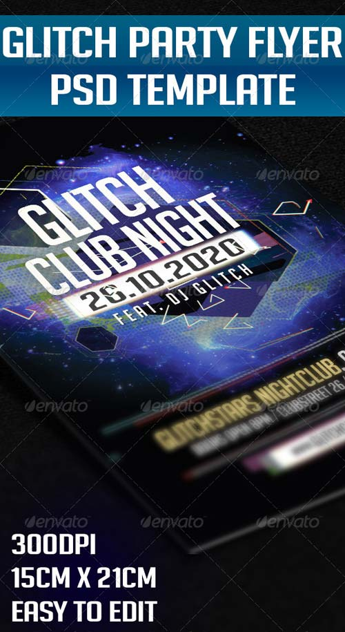 GraphicRiver Glitch Party Flyer