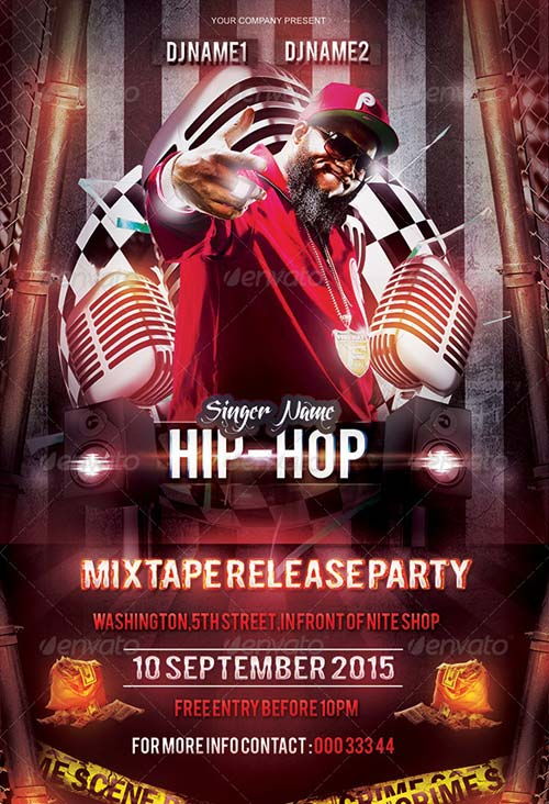 GraphicRiver Mixtape/Album Release Party Flyer Template
