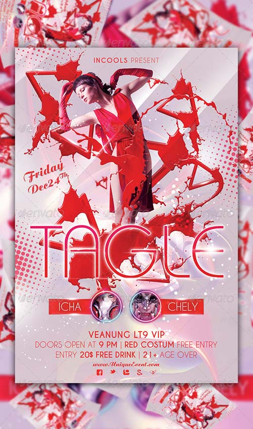 GraphicRiver Tagle Party Flyer Template