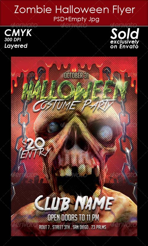 GraphicRiver Zombie Halloween Flyer