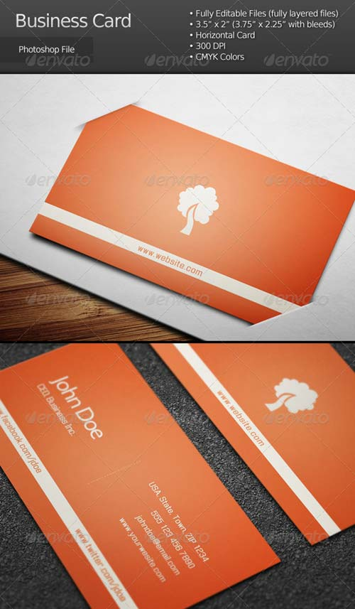 GraphicRiver Clean Corporate Business Card